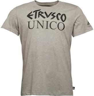 adidas Mens Tan Etrusco Logo T-Shirt Medium Grey Heather