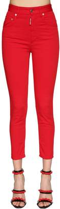 DSQUARED2 Twiggy High Waist Stretch Bull Jeans
