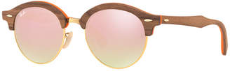 Ray-Ban CLUBROUND WOOD Sunglasses, RB4246M 51 $315 thestylecure.com