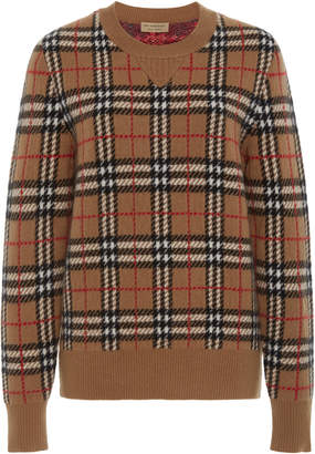 Burberry Banbury Checked Cashmere Sweater