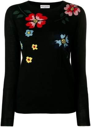 Sonia Rykiel embroidered flower jumper