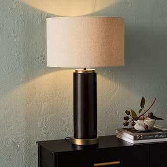 west elm Pillar Table Lamp + USB - Antique Bronze