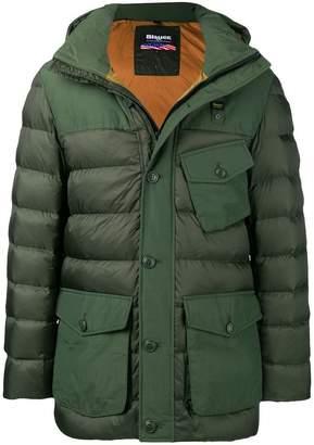 Blauer multi-pocket padded coat