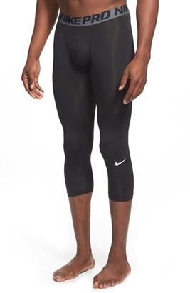 Men's Nike 'Pro Cool Compression' Four-Way Stretch Dri-Fit Three-Quarter Tights $32 thestylecure.com