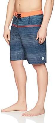 "Hurley Men's Apparel Men's Phantom 20"" Stretch Sunset Stripe Boardshort Swimwear"