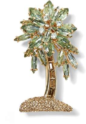 Banana Republic Jeweled Palm Leaf Brooch