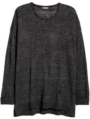 H&M Trashed Sweater - Black