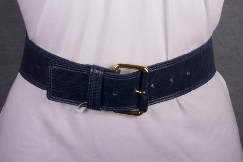 Streets Ahead Leather Belt with Gold Buckle