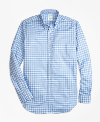 Brooks Brothers Milano Fit Oxford Check Sport Shirt