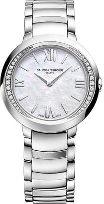 Baume & Mercier M0a10160 Promesse stainless steel and diamond watch