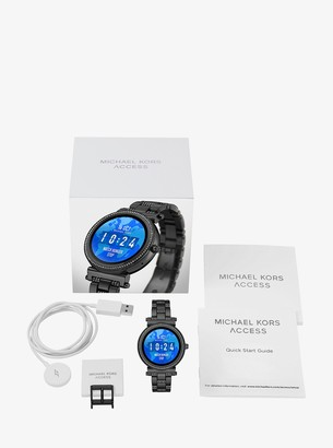 Michael Kors Watch Hunger Stop Sofie Pave Black-Tone Smartwatch