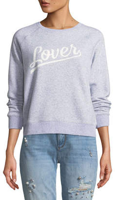 Rebecca Minkoff Lover Crewneck Raglan Sweatshirt