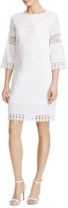 Lauren Ralph Lauren Karalie Lace Trim Dress $195 thestylecure.com