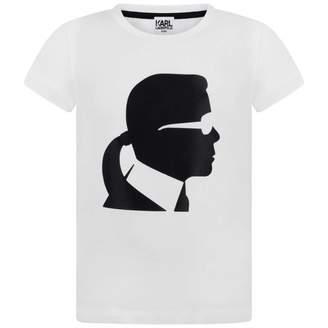 Karl Lagerfeld LagerfeldGirls White Kameo Print Top