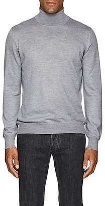 Barneys New York Men's Mélange Wool Turtleneck Sweater - Light Gray