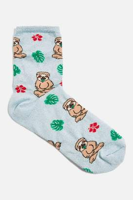 Topshop Sloth and Floral Socks