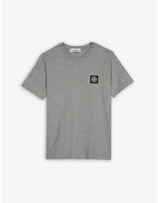 Stone Island Compass logo badge cotton T-shirt 4-14 years