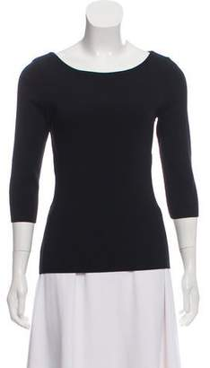 Givenchy Cutout Scoop Neck Top