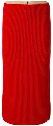 Calvin Klein (カルバン クライン) - Calvin Klein 205W39nyc リブニット ペンシルスカート