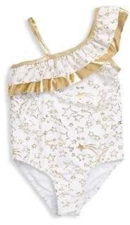 Betsey Johnson Little Girl's One-Piece Metallic Star Swimsuit
