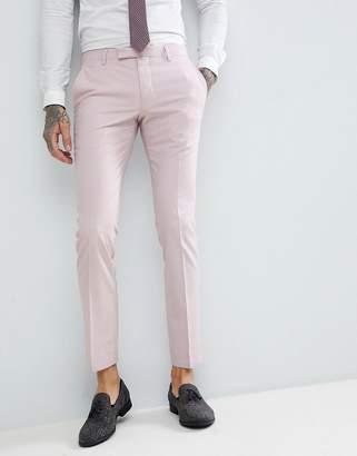 Noose & Monkey Wedding Super Skinny Suit Trousers In Light Pink