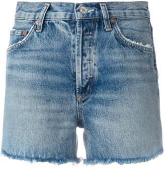A Gold E Agolde Dee denim shorts