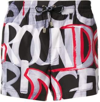 Dolce & Gabbana bold print swim shorts