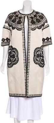 Naeem Khan Embellished Knee-Length Coat