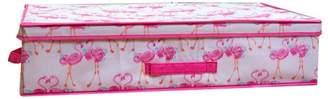 Laura Ashley Fabric Underned Storage Box in Pretty Flamingo