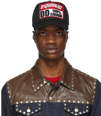 DSQUARED2 Black Gabardine Baseball Cap