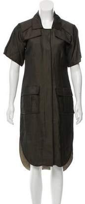 Oscar de la Renta Iridescent Silk Dress