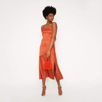Warehouse Leopard Cami Maxi Dress