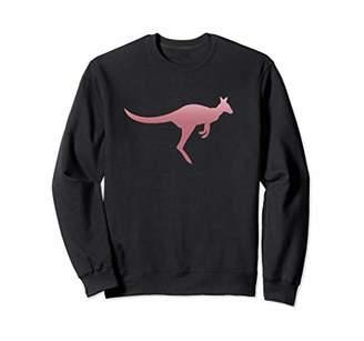 Australian Kangaroo Rose Gold Silhouette Animal Cool Style Sweatshirt