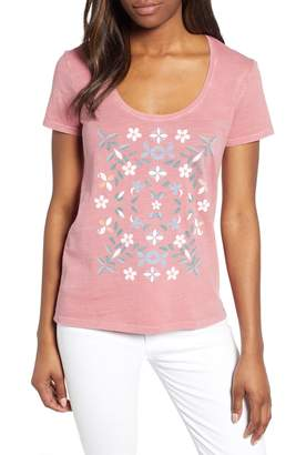 Lucky Brand Mosaic Floral Tee