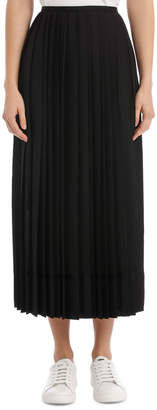 DKNY Pleated Maxi Skirt With Zip