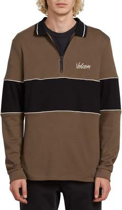 Volcom Thrifter Colorblock Long Sleeve Polo