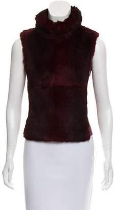Plein Sud Jeans Leather & Fur Top