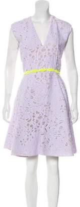 Giambattista Valli Embroidered Knee-Length Dress w/ Tags