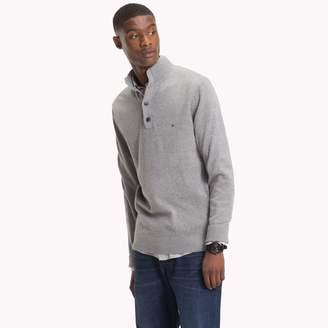 Tommy Hilfiger Cotton Cashmere Mockneck Sweater