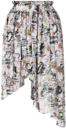 Vivienne Westwood asymmetric printed skirt