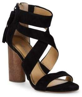 Splendid Jara Crisscross Block Heel Leather Sandals