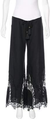 Pants Low-Rise Flared Pants