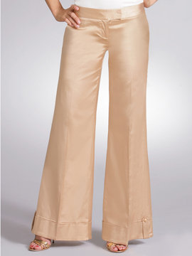 Wide Leg Shine Trouser