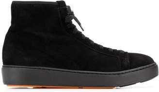 Santoni hi-top lace-up sneakers