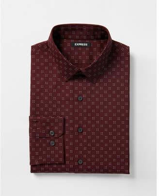 Express slim micro dot dress shirt