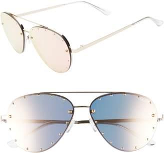 Quay x Jaclyn Hill Roxanne 62mm Stud Aviator Sunglasses