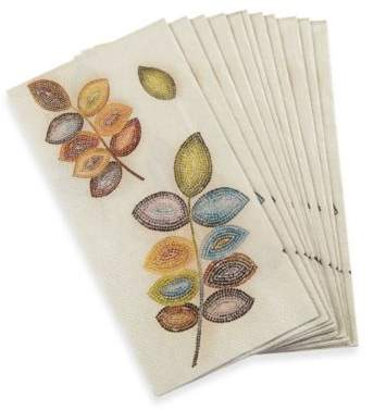 Mosaic Leaves 16-Pack Guest Towels