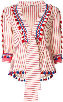Dodo Bar Or embroidered tassel blouse