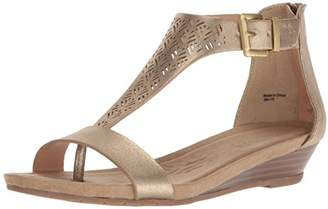 Kenneth Cole Reaction Women's Clip 3 T-Strap Low Wedge Sandal