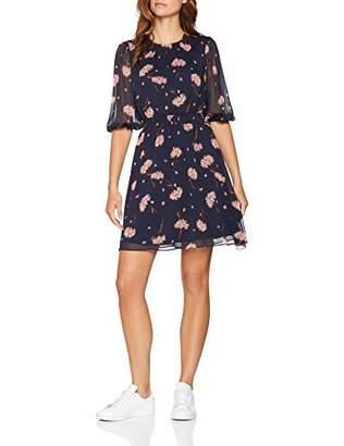 Warehouse Women's Honey Floral Smock Waist Mini Dress,(Size:)